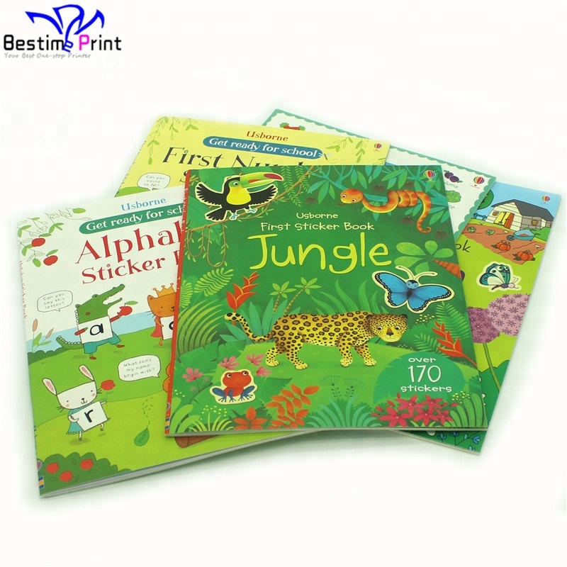Custom Coloring Children Activity Sticker Books Printing
