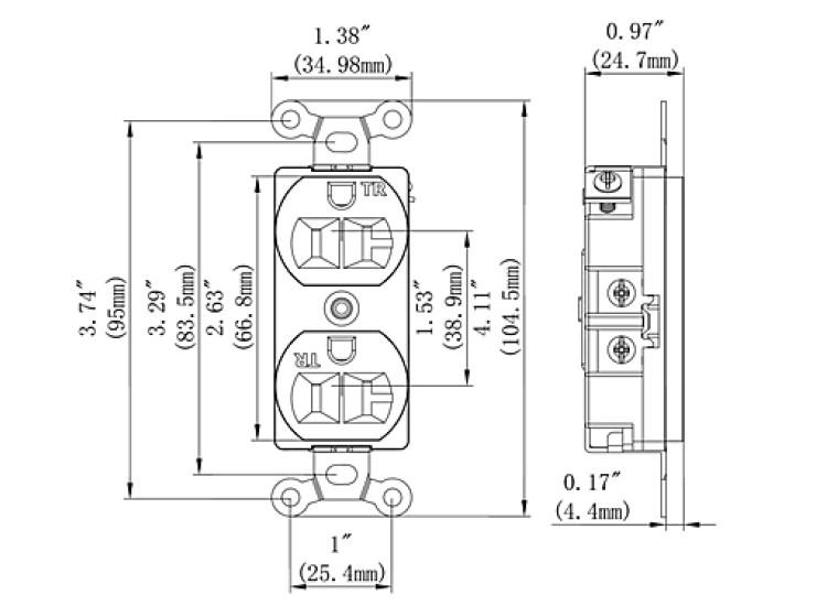 new wiring 125v 20a electrical receptacle wall gfci duplex