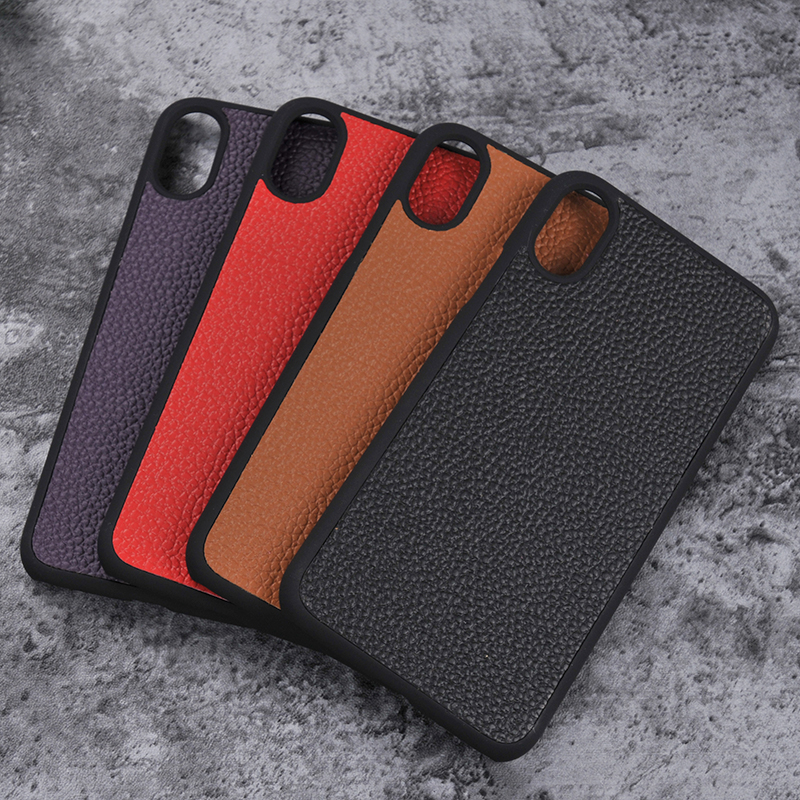 360 protect 2 in 1 back Stick leather inner True superfibre pc+TPU cases for iPhone X