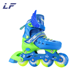 Aggressive Inline Skate With Flashing Wheel