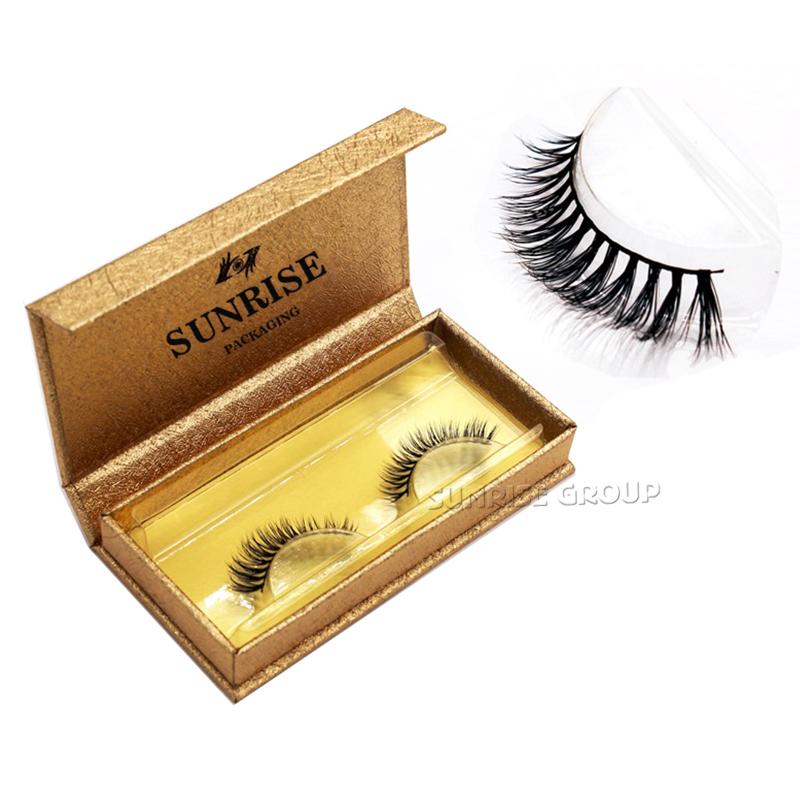 Luxury Blingbling Glitter Paper Cosmetics Eyelash Packaging Box
