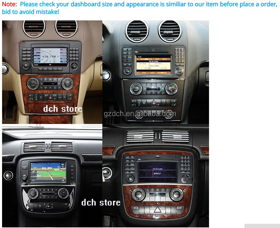 1024*600 Android 6.0 Octa Core Car DVD Player For Mercedes Ben-z ML GL Class W164 X164 Radio GPS Navigation 32GB WS-8823