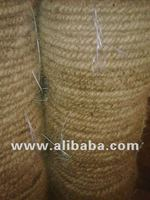 Twisted coir rope fiber