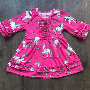 d30badc849725 import baby clothes china wholesale children's boutique clothing unicorn  dress boutique girls unicorn dress
