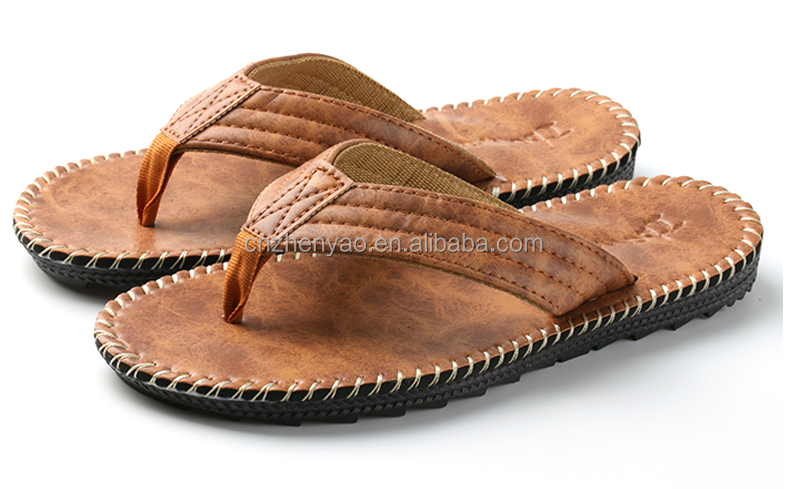 custom slide sandals leather arabic slippers for men