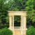 Outdoor Decoration Hand Carved Sunset Red Marble Gazebo