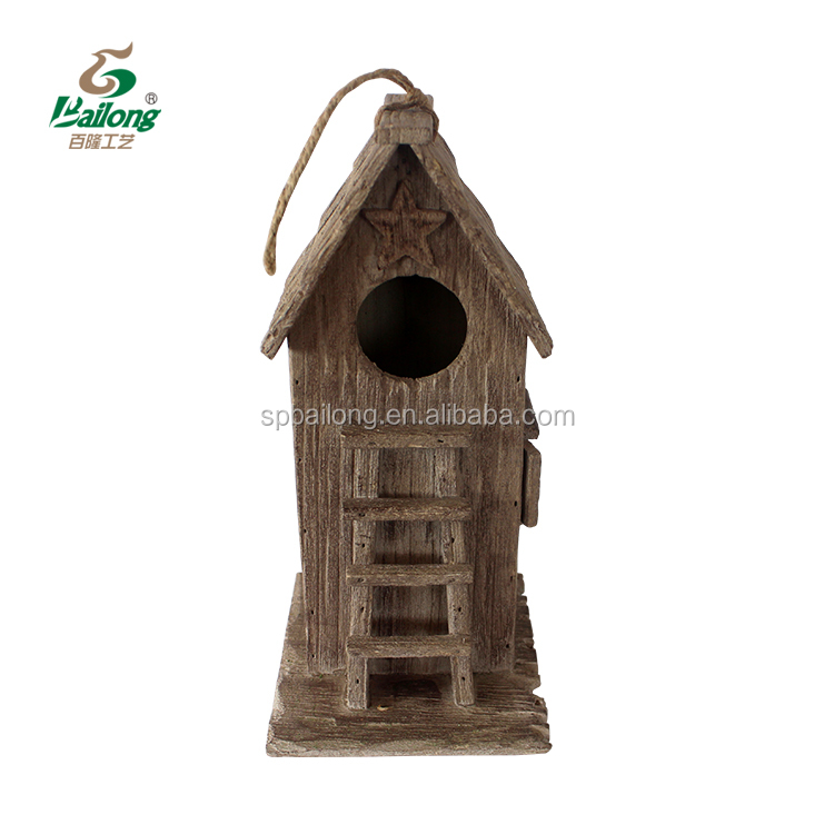 Factory price wooden decorative home and garden bird house