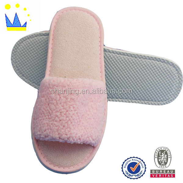 beautiful winter fashion pink slipper lady indoor slippers for girls