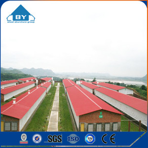 Low Cost Prefab Steel Structure broiler Layer Building Chicken Poultry Farm Shed Design