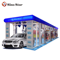 220V intelligent computer control tunnel car washer/ tunnel car washing machine fully automatic with cheap price A6