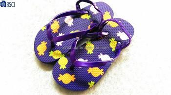 b8c66e4a271d3 Top quality children PE slipper smooth PVC strap girls silk print summer flip  flops