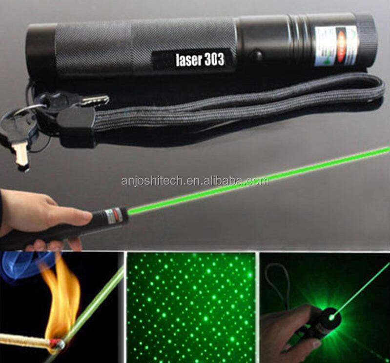 Powerful Green Laser Pointer 303 532nm Adjustable Focus Beam Light Lazer Pen