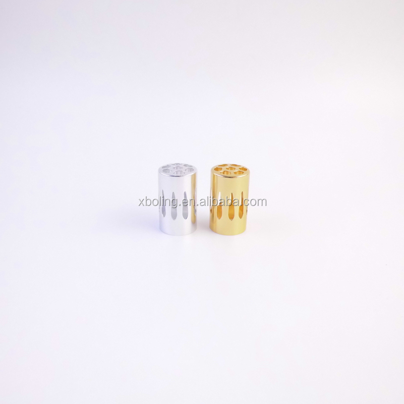Wholesale small openwork cover for aroma oil burner aluminum material fragrance lamp outer cap