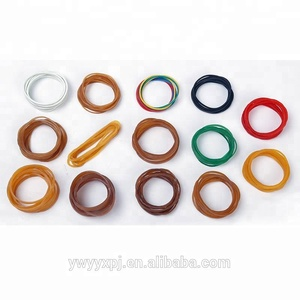 Bundle vegetable special 1 inch diameter transparent red widening rubber bands