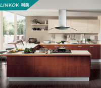 China Wall mounted custom cheap mdf kitchen cabinets made in china