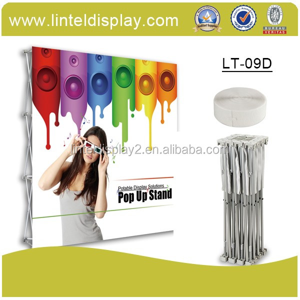 Aluminium intrekbare display stand roll up banner stand