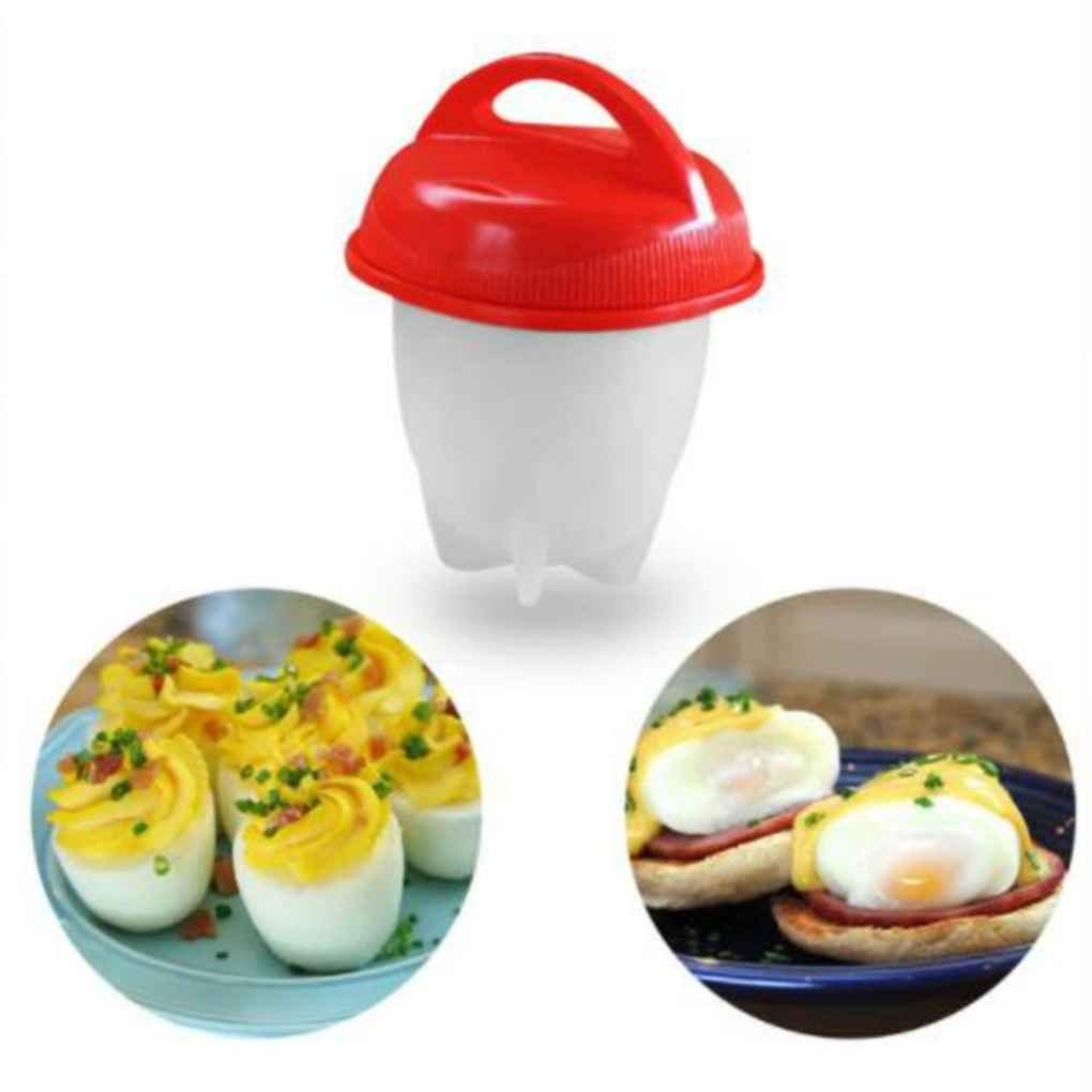 Minzhi 1pc/6pcs Silicone Non-Stick Egg Cooker Hard Boil Egg Mold Container Boiler Kitcken Cooking Eggies Maker