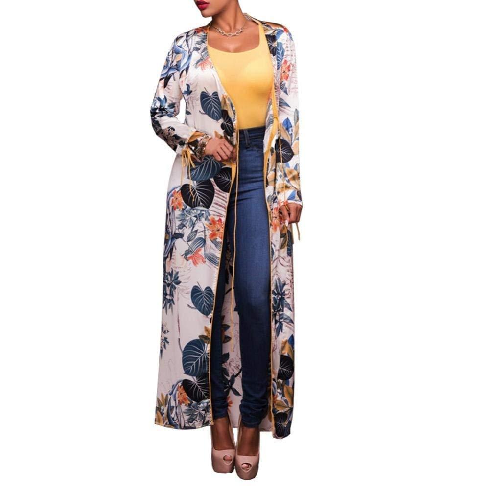 d57375a121 Get Quotations · Kimono Shirts Open Cardigan, Womens Chiffon Floral Print  Beachwear Kimono Bikini Cover up Boho Cardigan
