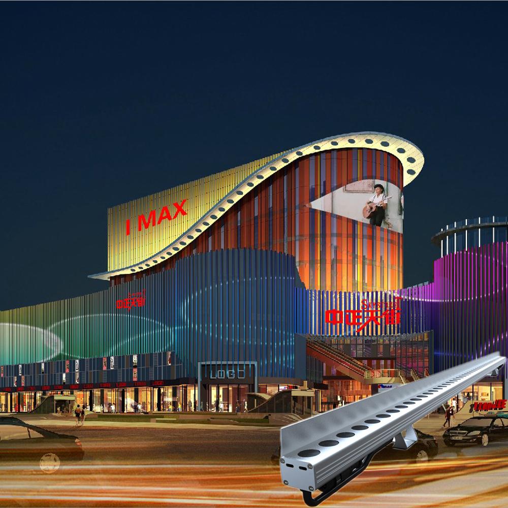 Dmx Linear Light Multi Color Media Led Facade Lights For Building Decoration
