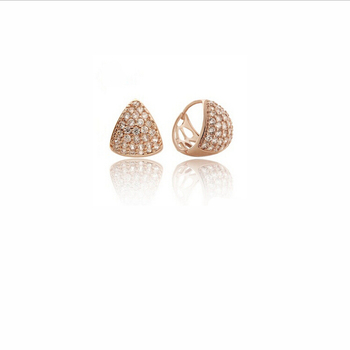 Elegance Rose Gold Diamond Clip Earring New Designs Jhumka