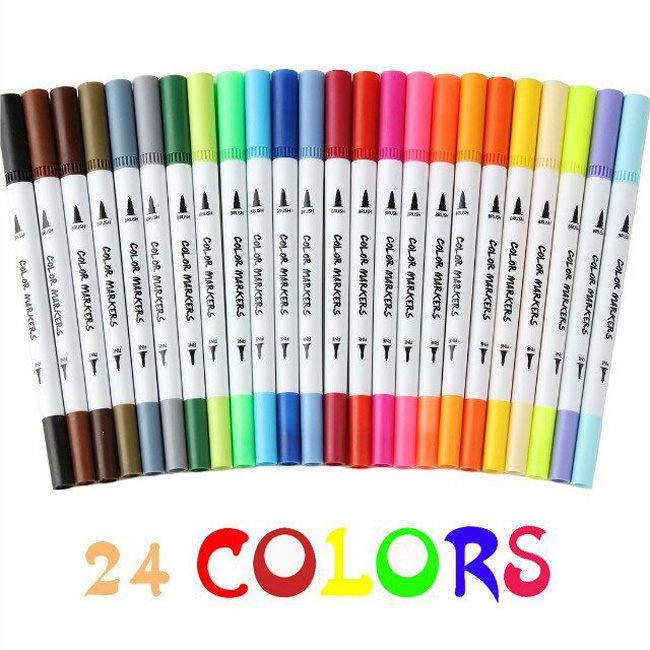 Double tip Pens Set for Adult Coloring Books, Bullet Journal, Calligraphy, Drawing