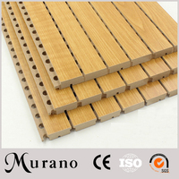 micro-perforated surface Perforated Acoustic Wood Panels supplier