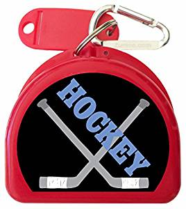 Zumoe Ice Hockey Mouth Guard Case Hockey Mouth Guard Case Ice Hockey Retainer Case or Ice Hockey Dental Case Called Puck, over 50 Designs and 9 Colored Cases Available