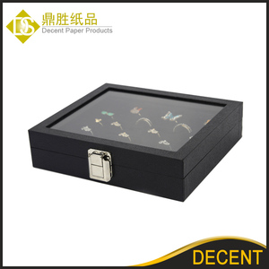 YIWU DECENT Black Velvet 36 Jewelry Rings Display Storage Display Case Box Wholesale