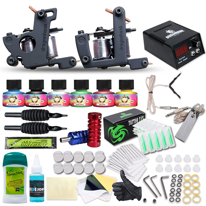 Wholesale Tattoo Supplies Professional Tattoo Kits Two Tattoo Guns ...