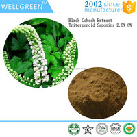 Herbal extract Cimicifuga Racemosa Root Extract Black Cohosh Extract Triterpenoid saponins 2.5% 8%