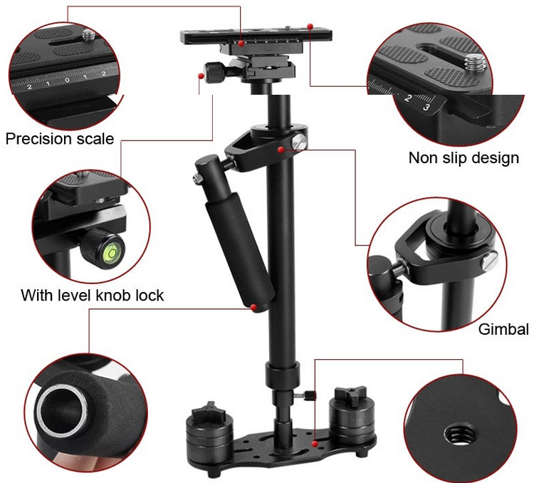 Hot Sale LOVEFOTO Handheld dslr Camera Stabilizer Made in China Steadicam for 5d Mark iii S60 Gimbal DV Stabilizer