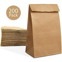 Paper Lunch Bags,Durable Brown Kraft Paper Bags,100% Recycled Kraft Paper