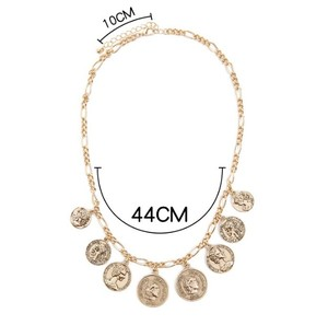 New design pendant gold coin necklace for jewelry Latest Necklace Designs wholesale N800277