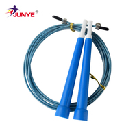 2019 Ningbo Junye Adjustable cable Premium Speed Jump Rope with Handles