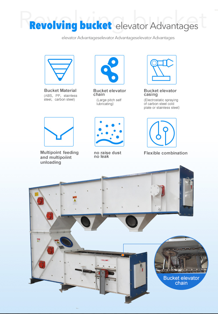 high quality food bucket conveyor belt food elevator