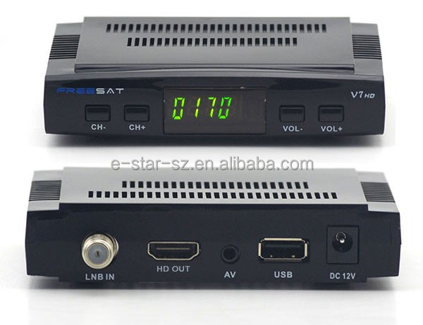 freesat v7 dvb-s2 <strong>satellite</strong> <strong>receiver</strong> 1080p <strong>hd</strong> digital DVB-S2 <strong>satellite</strong> <strong>receiver</strong> Freesat V7 <strong>FTA</strong> set top box support cccam, iptv
