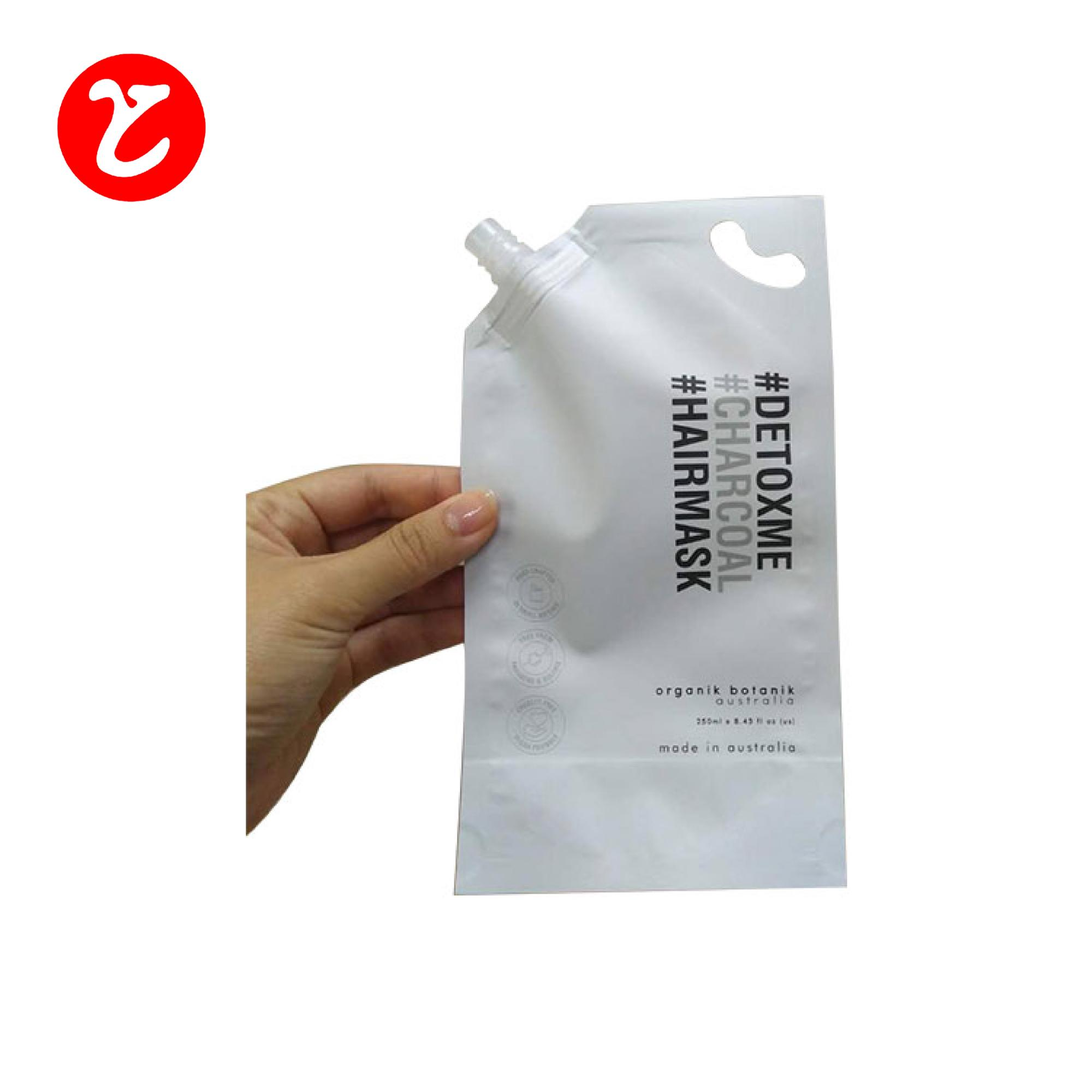 custom made plastic bags/liquid stand up aluminum foil spout pouch