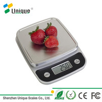 5kg square chrome paint platform healthy CE RoHS certificated electronic digital diet food kitchen scale 5kg