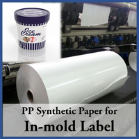 In mold Label of polypropylene Synthetic Paper price offer