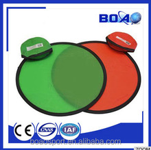 Hot sale OEM outdoor promotional foldable nylon frisbee