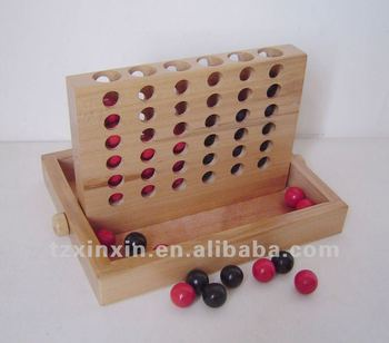 Wooden Four In A Row Game Connect 4 Game 8311
