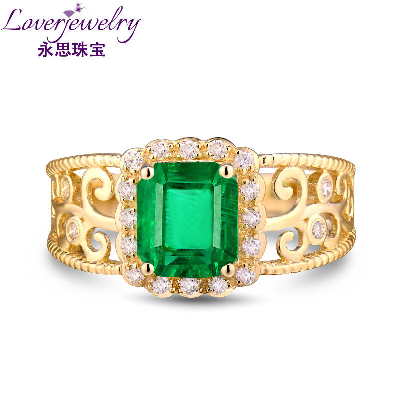 Hot Gold Ring Designs For Men Emerald Cut 6x8mm Natural