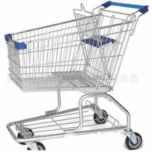 Manufacturer large capacity RH-SM180 American style standard shopping trolley for supermarket