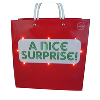 Slogan paper bag with led fiber optic lights
