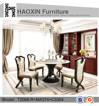 Madrid Dining Table With 4 Leather Chair For Marble Top Chairs Seaters Tables And