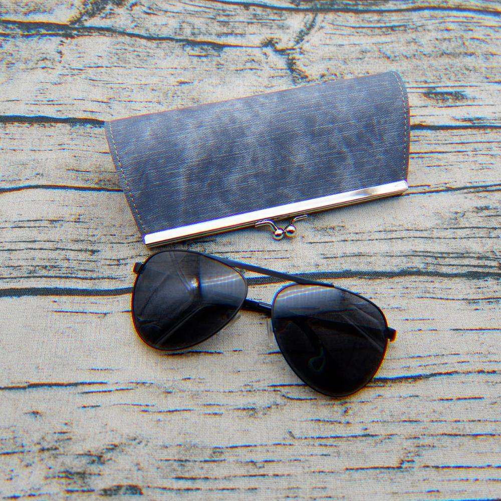 Eyewear Accessories Glasses Box Denim Fabric Zipper Sunglasses Protection Crush Resistance Container