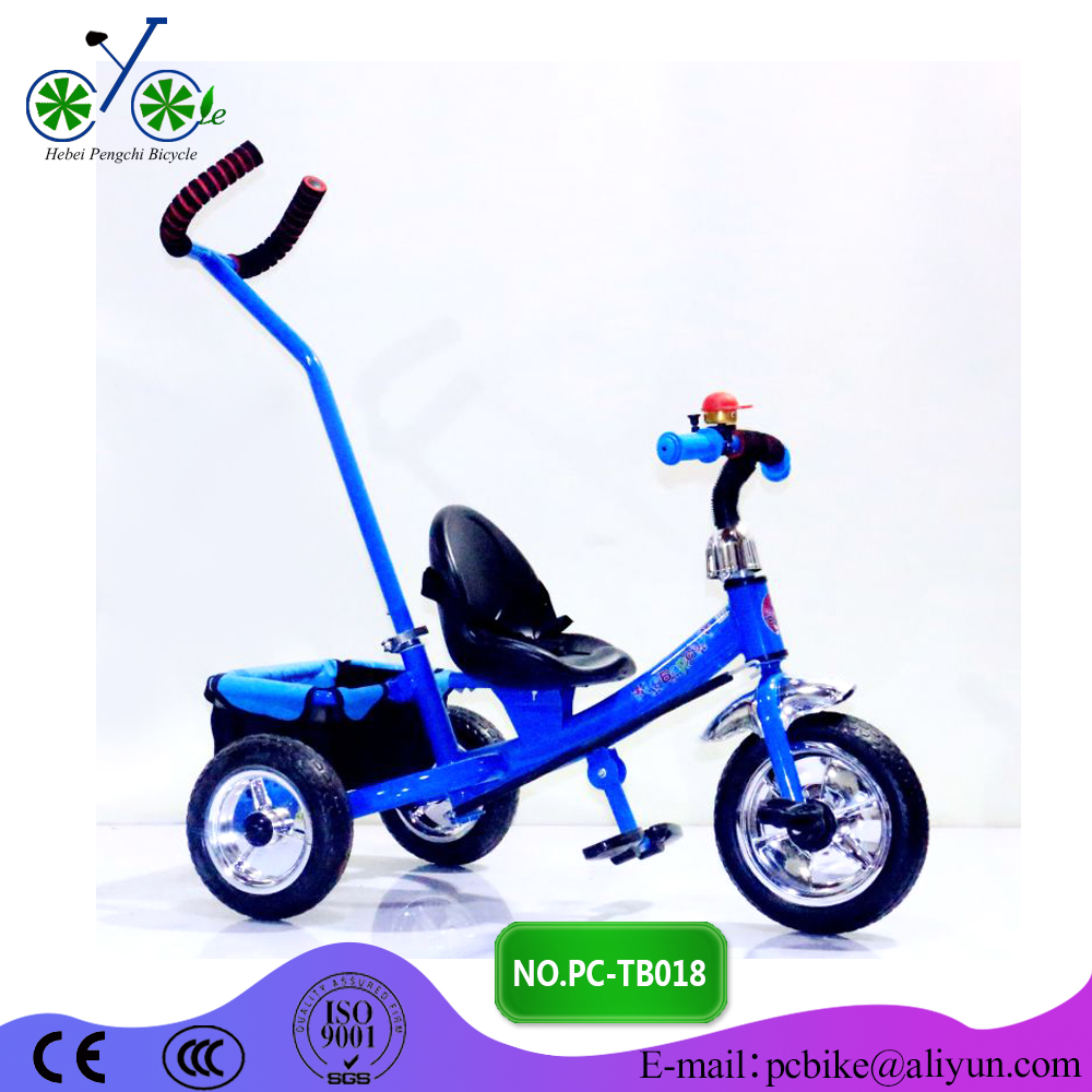 New Baby Tricycle Kids Bike with Push Bar/ Factory wholesale baby product ride on Steel toys
