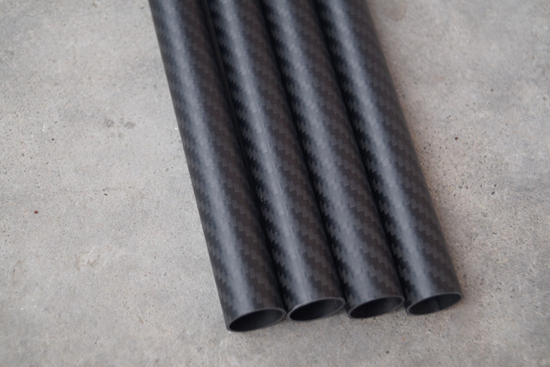 High strength 3K twill matte composite carbon fiber tube/pipe 100mm
