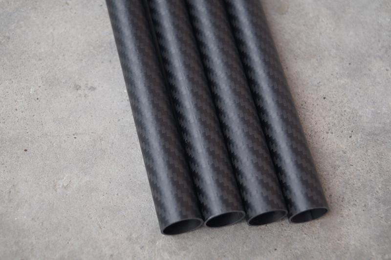 High strength 3K twill matte composite carbon fiber tube/pipe 100mm
