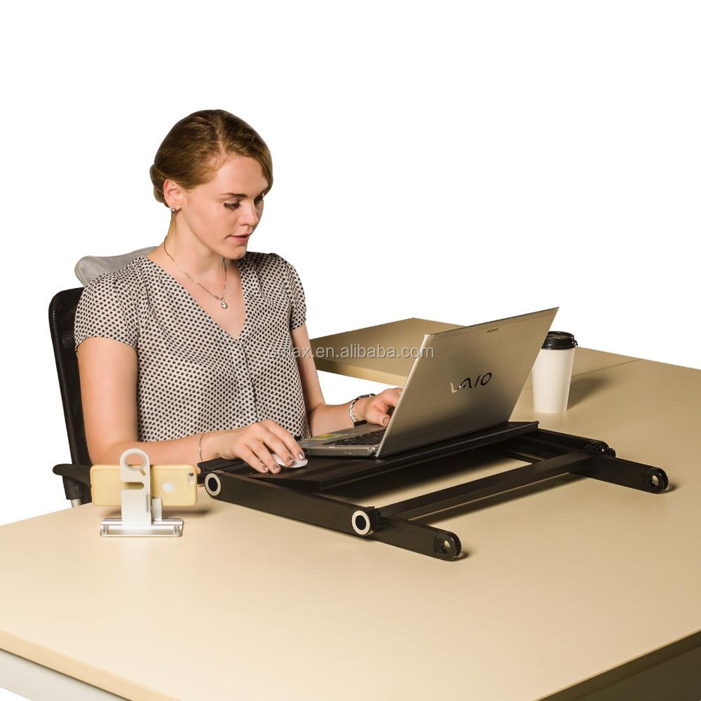 Uberlegen Folding Einstellbare Große Laptop Computer Tisch Steh Schreibtisch Für  Monitor Und Imac